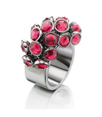 JRP025-5 Love Explosion Pink Crystals Ring