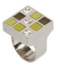 JRJ0001-6 Prismatic Champagne And Crystals Ring