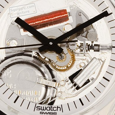 Skeleton Swatch Watch with White Dial Kolekcja jesienno-zimowa Swatch