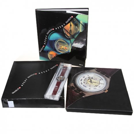 Swatch Electa Set With Book ( Rubin, Bluematic Or Black Motion) Zegarek