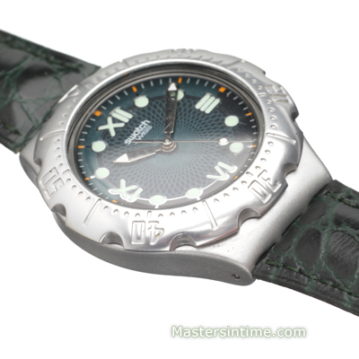 Swiss Made Aluminum Watch with Diver Look Kolekcja Wiosna/Lato Swatch